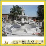自然で白い大理石像のOudoor石造り水庭の噴水(手またはか屋内か外面か球またはLandcapingまたは音楽または女性または天使または彫刻または装飾切り分けられるか、または切り分ける)