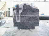 Bahama Bluegranite ha intagliato il Headstone trasversale di disegno