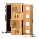 Eco friendly retro de bambú carbonizado embalaje té Caja de regalo