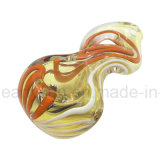 De nieuwe Amerikaanse In het groot Tabak van de Pijp van de Hand van het Glas van de Kleur met Aangepast Embleem (S-PK-327)