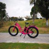 女性のための26inch脂肪質のタイヤの電気バイク