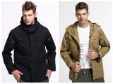 2カラーEsdyの男性ジャケットの屋外の戦術的で暖かいコートの戦闘のウインドブレイカー