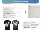 Imprimible PU film impreso en vinilo de transferencia de la luz de las prendas de vestir