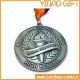 3D тисненая золотом Custom медали с лентой (YB-LY-C-48)