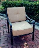 Garten-Verein-tiefe Kissen-Stuhl-Gussaluminium-Möbel