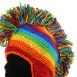 Mode Hiver Ski tricot acrylique Beanie Hat chapeau avec Earflap POM