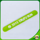 Pure Silicone Custom Silicone Slap Wristband with Printed Logo