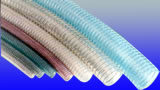 ポリ塩化ビニールの螺線形の鋼線の補強されたホースの放出ライン