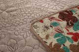 フランネルファブリックが付いている刺繍毛布は灰色のカスタマイズされてでき、