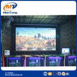4 spelers die de Machine van het Spel van de Simulator voor het Centrum van het Spel ontspruiten