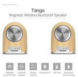 Wasserdichter beweglicher magnetischer drahtloser Bluetooth Lautsprecher mit HD Ton für androides iPhone iPad Smartphone, Lautsprecher für Haupttheater und im Freienarbeitsweg (HOLZ)