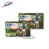 Venda por grosso de barras ou Impressão do número de Cr80 Tamanho Cartão de Anúncio de PVC para impressão em offset