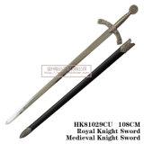 Le spade medioevali della decorazione delle spade delle spade di crociate 110cm HK81029cu