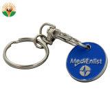 Catena chiave del metallo in lega di zinco di figura del cuore con l'anello chiave