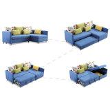 Base di sofà a forma di L di disegno moderno con memoria