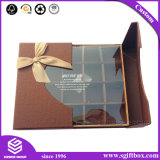 Decoración maravillosa para el rectángulo del caramelo de chocolate con la ventana plástica