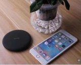 Cargador inalámbrico Qi Carga rápida de la almohadilla de carga inalámbrica para la nota 8 Samsung Galaxy S8 S8 Plus y carga estándar para el iPhone 8/X