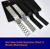 Для передачи Samsung S3 Smart смотреть металлический хомут 3 шва Watchband из нержавеющей стали для S3 классический браслет с контактами