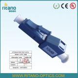 Atenuador de fibra óptica Male-Female do LC com carcaça azul