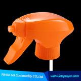 Pulverizador plástico conservado em estoque do disparador de MOQ 500PCS na cabeça do pulverizador