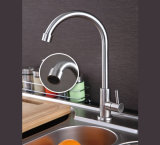 Robinet classique de bassin de cuisine d'acier inoxydable de collet d'oie de modèle