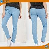 2018 calças de brim lavadas baixa cintura da sarja de Nimes do lápis da forma das mulheres para Xintang