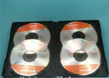 Negro Caja del DVD DVD DVD cubrir 14mm para 4 sin bandeja
