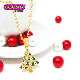 2018 de Nieuwe Juwelen van de Halsband van de Tegenhanger van de Charme van de Boom van het Email van het Ontwerp Populaire Goud Geplateerde voor Gift