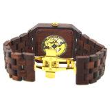 Timepieces Houten Horloge van de Vrouwen van de Mannen van het Horloge van het Embleem van de Naam het Naar maat gemaakte Klassieke