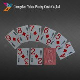Index imprimés personnalisés Jumbo Poker jouant aux cartes en plastique