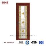 Portes en aluminium de salle de bains de prix usine pour les portes en verre intérieures