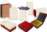 Rectángulos coloridos de la impresión de las compras plegables, rectángulo de papel del conjunto