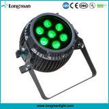 Piscina 7X14W Rgbawuv LED Lâmpada Parcans Zoom da Bateria