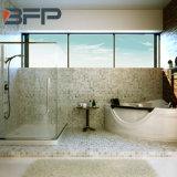 Плитка мозаики белой мраморный каменной новой конструкции высокого качества декоративная водоструйная