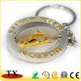 Catena chiave della moneta di qualità dell'anello portachiavi del metallo con il marchio impresso oro