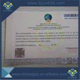 Сертификат печатание обеспеченностью A4 водяной знак бумажный