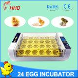 Hhd dernier modèle 24 oeufs incubateur d'oeufs de poulet yz-24A