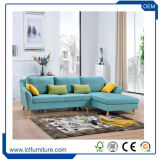 Prezzo all'ingrosso stabilito della Cina della base di sofà del meccanismo dell'angolo rotondo sofà d'angolo moderno del tessuto del piccolo del sofà Cum
