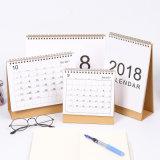 Calendário de parede laminado costume da impressão Offset da alta qualidade, calendário de mesa