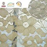 Tessuto floreale del merletto del ricamo del reticolo, più nuovo Material2017 Ln10046