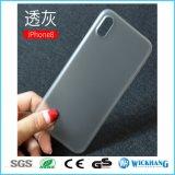 geval van de Huid van de 0.3 mm het Uiterst dunne Duidelijke Steen voor iPhone 8 van de Appel
