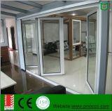 Дверь складчатости строительного материала алюминиевая с Tempered стеклом для сбывания
