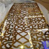 Telas de quarto decorativo de corte a laser de aço inoxidável de design moderno