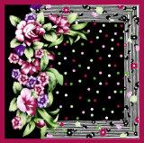 Kundenspezifischer Frauen-schöner Blumen-Muster-weicher Silk Schal
