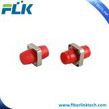D-Tipo simples tipo da manutenção programada milímetro do adaptador FC Upc/APC/PC da fibra óptica do quadrado