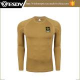 Camisa térmica militar do roupa interior do terno morno tático do combate do exército