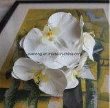 Dançando Lady Orchid arranjo de plantas Flores Flores artificiais Silk White Cymbidium Orquídea Artificial sobre a venda
