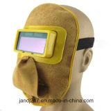 Masker van Welmet van het Lassen van het leer het Automatische Verdonkerende in Guangzhou