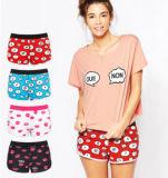 Confortável casual de desenhos animados jovens raparigas meias roupas íntimas mulheres camisas