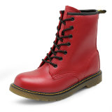 جزمة يمهّد أحمر لأنّ بنات أحذية عمليّة بيع مارتن [نونسإكسول] فعليّة تقليد [لسثر] أحذية